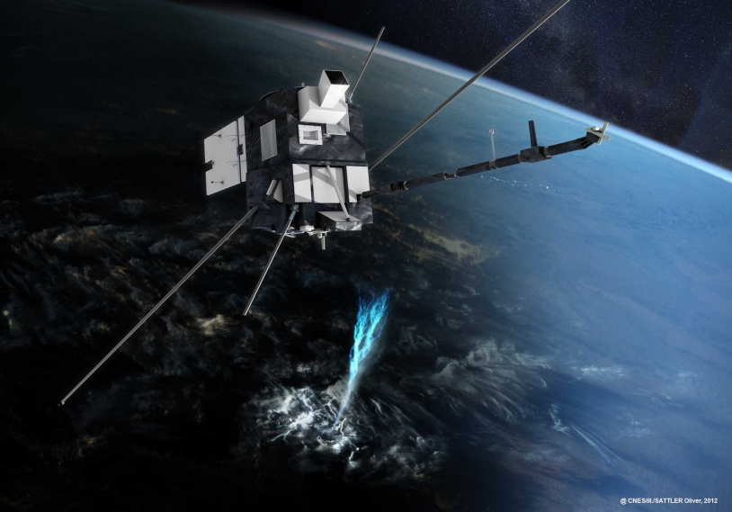 Vue d'artiste du satellite Taranis